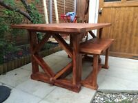 NEW! 4-6 seater dining table with 2 benches