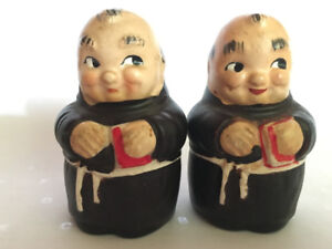 Vintage Occupied Japan Ceramic Monk Salt & Pepper Shakers