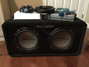 "2 10"" Subwoofers + 2 amps"