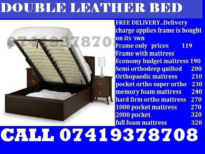 "single leather Beddoublekingsize also availablein North Finchley, LondonGumtree - ""All sorts of furniture are available Please feel free to call on given number ( beds wardrobes and sofas)"""