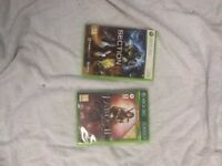 Xbox 360 games fable 2 and section 8