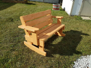 Hand made custom benches and chairs