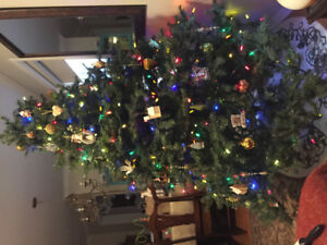Used 6 1/2 foot artificial Christmas tree