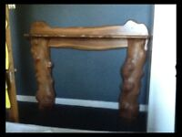 Hand Crafted Elm Wood Fire Surround with Hearth