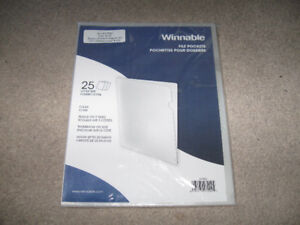 Winnable File Pockets-Clear/25 pack-New + other  things-Lot $5