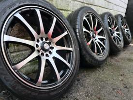 "17"" Dare Alloy wheels 5x108 5x100 Ford Focus Connect Golf Seat Jaguar"