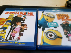 Despicable Me 1 and 2 Blu Ray
