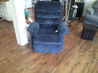 Moving sale...Couch, love seat, electric  chair, queen size bed