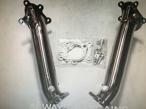 GTR R35 DOWNPIPES 76MM BRAND NEW STAINLESS STEEL$499 FOR PAIR