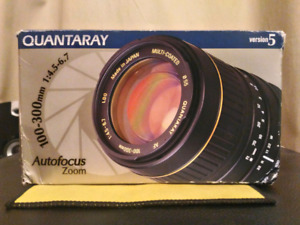 Quantaray 100-300 lens for Canon EOS