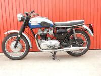 TRIUMPH BONNEVILLE T120 RARE 2 TONE BLUE EDITION 1960 650cc VERY PRETTY CLASSIC.