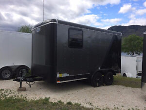 New 7 x 14 Charcoal Cargo Trailer