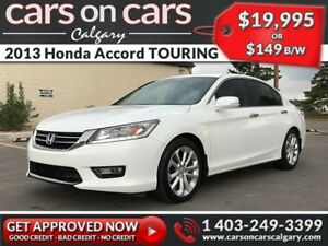 2013 Honda Accord Sedan TOURING w/Leather, Sunroof, Navi $149 B/