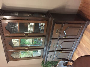 Mennonite made china cabinet