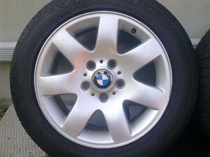 BMW E46 style 45 Mags with summer tires 205/55R16 West Island Greater Montréal image 2