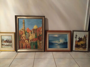 THREE Original Oil Paintings by Known Artists!!! Must See!