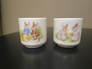 Two Bunnykin Egg Cups