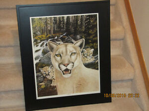 "Framed Print  - ""Watchful Mom"" - By John Stone"