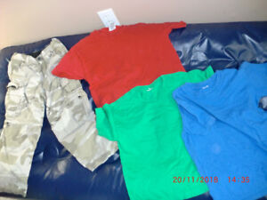 Bag of Boys Clothes, mostly Sizes 10 and 12,  zip-offs, shirts