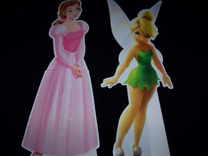 "Walt Disney Tinkerbell & Belle 30"" Movie Promo Cardboard Standup"
