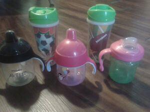 Playtex and Phillips Avent Sippy Cups