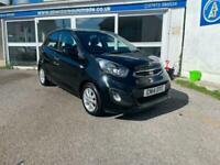 Kia picanto 1.0 Petrol vr7 black 5 door with warranty