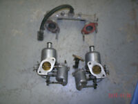 MGB Dual SU Carburetors, with intake and exhaust manifolds.