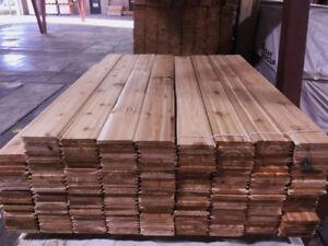 Western Red Cedar - 1x6, 2'-16' long STK (Knotty) T&G