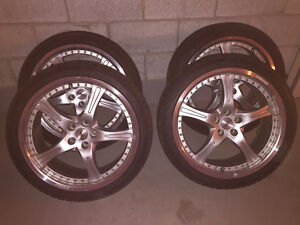 """Momo Mags 18"""" 5x100 & Continental Extreme Tires 225/40/18"""