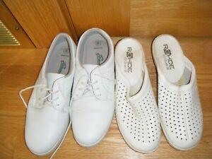 Women's white duty (nurse/PSW/lab/dental etc) shoes, size 8