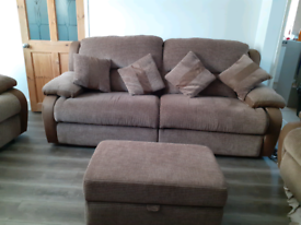 Lazy boy sofa four seat settee and also a two seat chairs