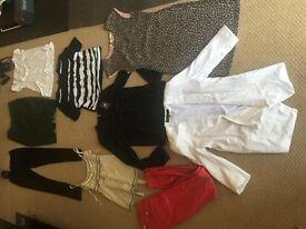 14 items wholeseale carboot joblot FCUK, French connection, topshop hollister, ladies clothes