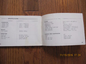 1972 Honda CB 350 Owners Manual Sarnia Sarnia Area image 5