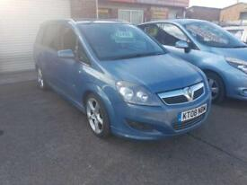 Vauxhall Zafira SRi Diesel 2008 1.9 CDTi Manual 5 Door Blue 7 Seater