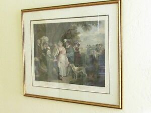 Large Antique Shakespeare Winters Tale Etching Print Cambridge Kitchener Area image 6