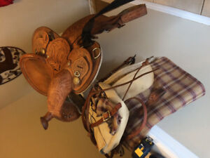 Beautiful western saddle and accessories