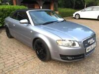 Audi A4 Cabriolet 1.8T 2007 S Line Black alloys, black leather FSH POWER ROOF
