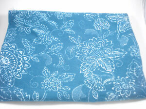 Blue and White Fabric 40x52 inches  Sandy Hill