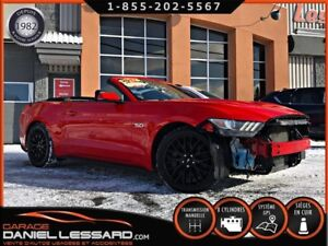 Ford Mustang GT GT PREMIUM, CONVERTIBLE, CUIR, GPS, PAS VGA  201