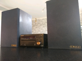 Denon RCD-M39DAB and Mission 77 speakers