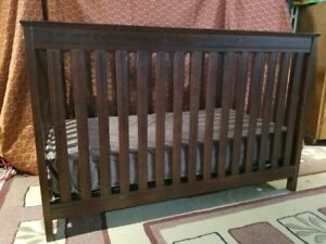 4 in 1 crib - medium brown