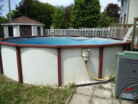 21' Above Ground swimming pool with gas heater