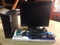 "X10 COMPLETE LENOV ODESKTOP PC CORE2DUO 2GB RAM 160GB HDD 17"" TFT SCREEN WOW COMPLETE £30"