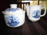 Delft Blue Cream and Suger Set