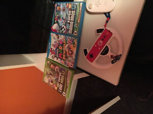 Wii u 6 games 3 controllers and more !