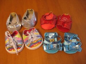 BUILD A BEAR LOT OF 4 PAIRS OF GIRLS SHOES