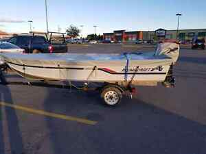 14 'Alumacraft 25HP Mercury with trailer. Ready for fishing!