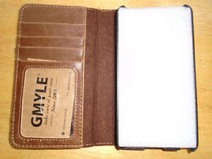 GMYLE Book Case Vintage for iPod touch 6 - Brown PU Leather Stan