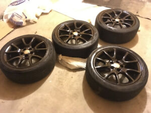 All season Continental tires 225/45/17 with rims