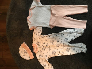 4 piece 0-3 month baby outfit